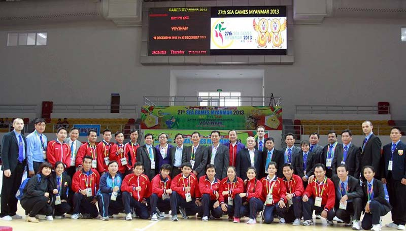 EVVF REFEREES IN THE 27th SEA GAMES - MYANMAR 2013
