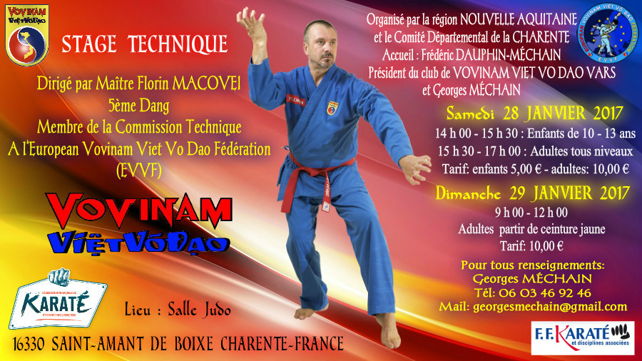 SEMINAR IN CHARENTE - FRANCE, January 28-29, 2017